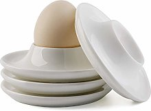 Egg Cup Holder, with Base, Ceramic Egg Cup Plate,
