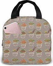 Egg Cup Noodle Ramen Printed Insulated Lunch Bag