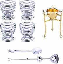 Egg Cup Set, with Spoon and Egg Shell Opener,