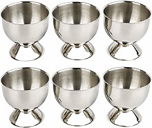 Egg Cup Tray Stainless Steel Soft Boiled Egg Cups