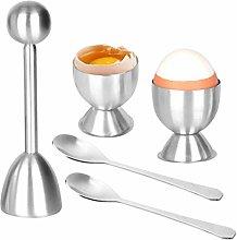 Egg Cutter Topper Set,Stainless Steel Boiled Egg