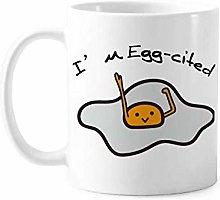 Egg Excited Yolk Mood Art Deco Gift Fashion Mug