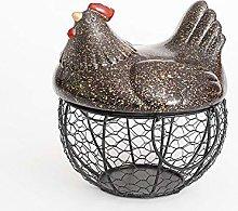 Egg Fruit Storage Basket with lid Large-Capacity