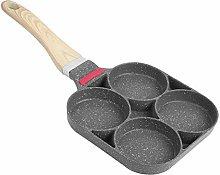 Egg Frying Pan, 4 Cup Pancake Pan Aluminum Egg