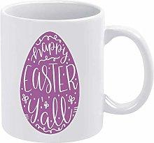 Egg Funny Coffee Mug White Happy Easter Yall