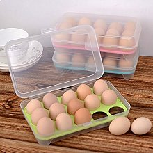 Egg Holder Box, Mmrm Durable Plastic 15 Cells Eggs
