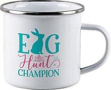 Egg Hunt winnerFunny Campfire Enamel Mug Egg