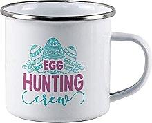 Egg Hunting Crew Funny Campfire Enamel Mug Easter
