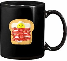 Egg in A Bacon Toast Bed Food Breakfastmug for