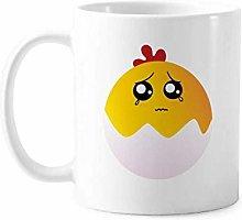 Egg Injustice Lovely Face Cartoon Mug Pottery