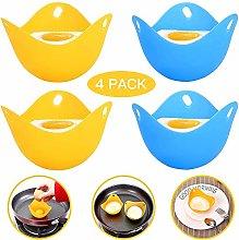 Egg Poacher (4 Pack) Silicone Egg Poachers Pan
