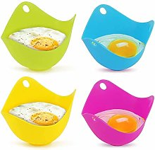 Egg Poacher, 4Pcs Silicone Egg Cooker BPA-Free