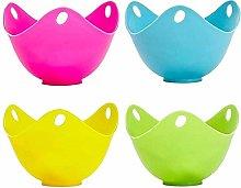 Egg Poacher Cups (4 Pack) Non Stick Silicone