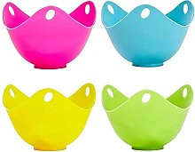 Egg Poacher Cups (4 Pack) Non Stick Silicone