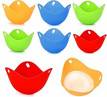 Egg Poacher Cups 8PCS, Egg Cooker Silicone,