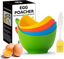 Egg Poacher - KRGMNHR Poached Egg Cooker with Ring