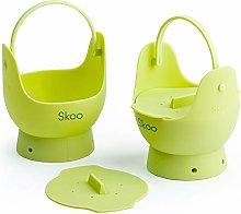 Egg Poacher - Skoo Silicone Egg Poaching Cups +