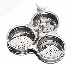 Egg Poachers for Egg Cooking Three Grid Silver