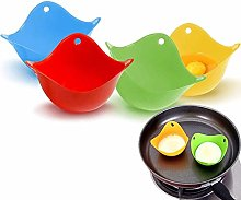 Egg Poachers (Set of 4) for Cooking Poached Eggs,