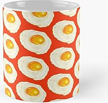 Egg Porcelain Mug Unique Birthday Gift Breakfast