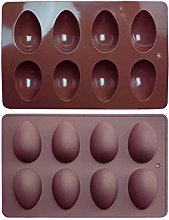 Egg Shape Silicone Chocolate Molds, 8-Cup Silicone