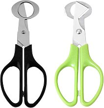 Egg Shell Cutters, 2 x Stainless Steel Scissors