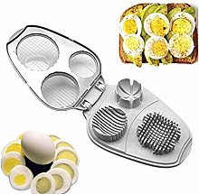 Egg Slicer 3 in 1 Stainless Steel Manual Slicers