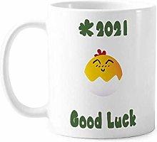 Egg Smile Lovely Face Cartoon Good Luck 2021 Mug