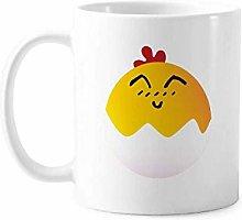 Egg Smile Lovely Face Cartoon Mug Pottery Ceramic