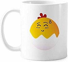 Egg Speechless Lovely Face Cartoon Mug Pottery