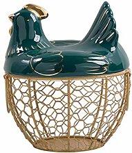 Egg Storage Basket Metal Wire Fruit Basket With