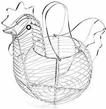 Egg Storage Basket Metal Wire Hen Egg Wire Basket