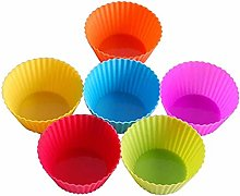 Egg Tart Mould 24pcs Tart Cups Silicone Muffin Cup