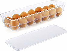 Egg Tray Holder with Lid Refrigerator Storage