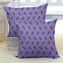 Eggplant Bed or Sofa Pillows Case for Your Family