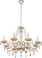 EGLO BASILANO Cognac 8-light chandelier