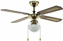 EGLO Ceiling Fan, Metal, Brass