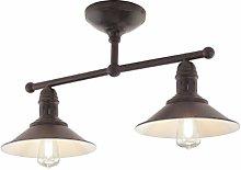 EGLO Ceiling Lighting, Steel, 60 W, Antique-Brown,