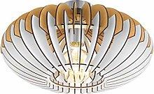 EGLO Ceiling Lighting, Steel, 60 W, Matte Nickel