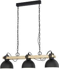 Eglo Lubenham 3 Light Ceiling Light - Black