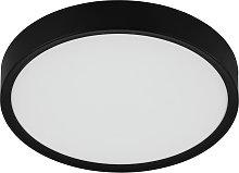 Eglo Musurita Black LED Flush Ceiling Light - Black