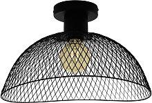 Eglo Pompeya Mesh Flush Ceiling Light - Black