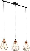 Eglo Tarbes 3 Light Pendant - Copper