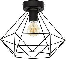 Eglo Tarbes Wire Flush Ceiling Light - Black