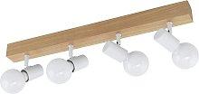 Eglo Townshend 4 Light Spotlight - White and Oak
