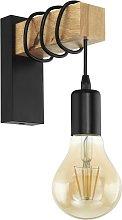Eglo Townshend Hung Wall Light - Black Oak