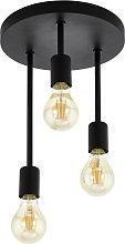 Eglo Wilmcote 3L Flush Ceiling Light - Black