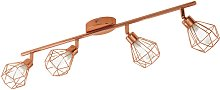 Eglo Zapata 4 Light Spotlight Bar - Copper