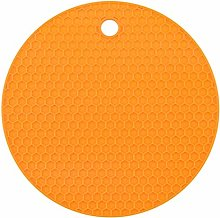 Egurs 4 Pack Color Silicone Coasters Honeycomb