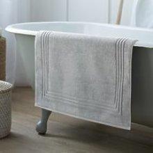 Egyptian Bath Mat , Soft Grey, Medium
